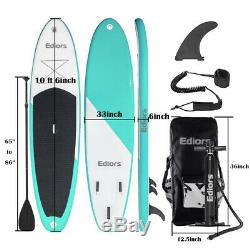 10FT(6thick) SUP inflatable Surfing Board Surf stand up paddle board Yoga 7in1
