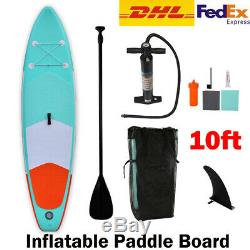10FT Inflatable Stand Up Paddle Board Paddle Pump & Carry Bag Complete Set DHL