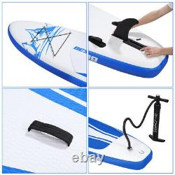 10FT Inflatable Stand Up Paddle Board SUP Surfboard Adjustable Non-Slip Deck US