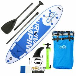 10'10 Inflatable Stand Up Paddle Board SUP Surfboard with Repair Kit Large Size