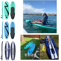 10/11 FT Inflatable Paddle Board Stand Up Surfing No-Slip All Level 6'' Deck SUP
