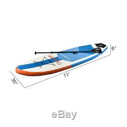 10' /11' Inflatable SUP Stand up Paddle Board Surfboard Adjustable Fin Paddle