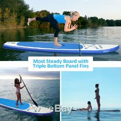 10.5 FT Inflatable Stand Up Paddle Board With Accessories Carry Bag Non-Slip