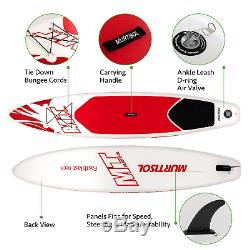 10'5'' Inflatable Stand Up Paddle Board(25in Width) for Skilled Man, Red