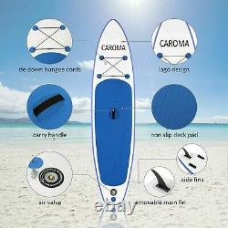 10.5 Inflatable Stand Up Paddle Board SUP Surfboard + complete kit 6'' thick
