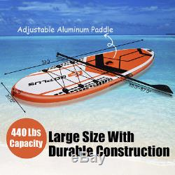 10.5' Inflatable Stand Up Paddle Board SUP With Fin Adjustable Paddle Backpack