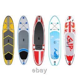 10.5'Inflatable Stand Up Paddle Board Surfboard SUP with Complete Kit+Bag 6thick