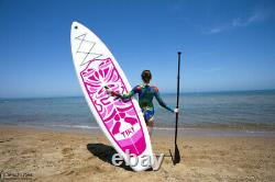 10.5' Stand Up Paddleboard SUP Displacement Hull (Pink) Kit + 1 Year Warranty
