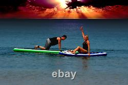 10.5 ft SUP Purple Inflatable Stand Up Paddle Board with Pump Non-Slip All Level
