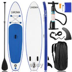 10.5ft 6'' Thick Inflatable Stand Up Paddle Board Surfboard With Pump Backpack