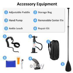 10.5ft Inflatable Stand Up Paddle Board SUP Surfboard with Complete Kit Non-slip