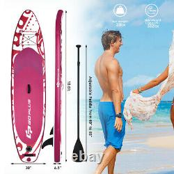 10.6' Inflatable Stand Up Paddle Board with Carry Bag & Adjustable Paddle Pink