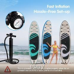 10'6 Paddle Board HIJOFUN Paddleboard Inflatable Stand Up SUP Surfboard Kayak