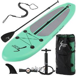 10 FT Inflatable Stand Up Paddle Board SUP Surfboard With Complete Kit & Bag