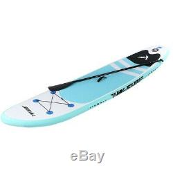 10' Inflatable Adjustable Fin Paddle Beach Super Stand Up Paddle Board Surfboard
