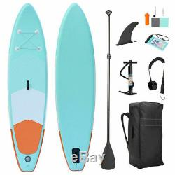 10' Inflatable SUP Stand Up Paddle Board & Kayak Paddle Board Surfboard with Fin