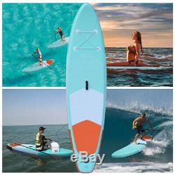 10' Inflatable SUP Stand Up Paddle Board with Adjustable Paddle & Backpack