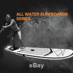 10 Inflatable Stand Up Paddle Board SUP Ajustable Fin & Backpack US STOCK