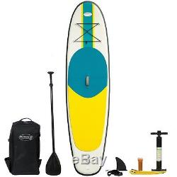 10' Inflatable Stand Up Paddle Board SUP Set with Accessories +Travel Backpack