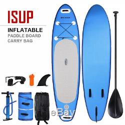 10' Inflatable Stand Up Paddle Board SUP Surfboard Leash Carbon Paddle HOT