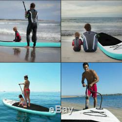 10' Inflatable Stand Up Paddle Board SUP Surfboard Leash Carbon Paddle board