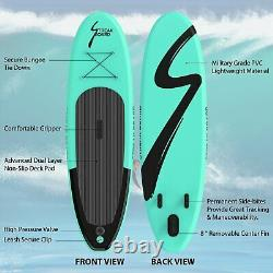 10' Inflatable Stand Up Paddle Board SUP Surfboard with Complete Kit 6'' Thicken