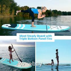 10' Inflatable Stand Up Paddle Board SUP Surfboard with complete kit 4'' thick