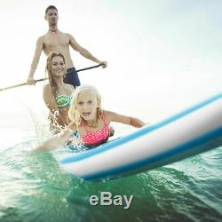 10' Inflatable Stand Up Paddle Board SUP With Fin Adjustable Paddle Backpack Sport