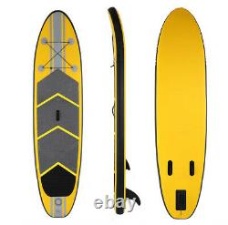 10' Inflatable Stand Up Paddle Board Surfboard SUP+Fins+Complete Kit+Bag+Pump US
