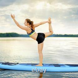 10' Inflatable Stand Up Paddle Board WithCarry Bag Adjustable Paddle Adult Youth