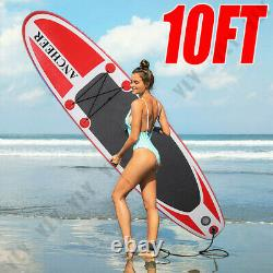 10' Inflatable Stand Up Paddle Boards Surfboard SUP withFin+Pump+Complete Kit+Bag^