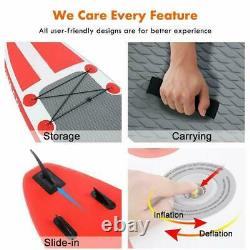 10 Inflatable Stand Up Paddle Boards Surfboard SUP withFin+Pump+Complete Kit+Bag&