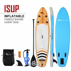 10 Inflatable Stand up Paddle Board Surfboard SUP With Bag Adjustable Paddle Fin
