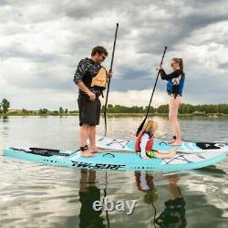 10' Inflatable Stand up Paddle Board Surfboard SUP With Bag Adjustable Paddle Fin
