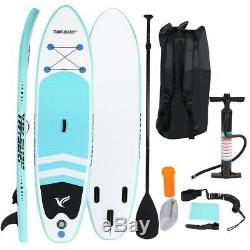 10'Inflatable Super Stand Up Paddle Board Surfboard Adjustable Fin Paddle New