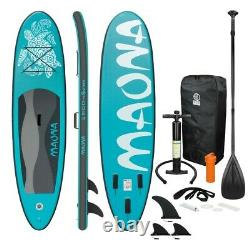 10' Long Inflatable Stand Up Paddle Board Complete Kit 4'' Thick Turquoise SUP