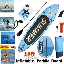10ft Inflatable SUP Stand Up Paddle Board Accessories Adult Float Paddle WithPump