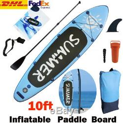 10ft Inflatable SUP Stand Up Paddle Board Float Paddle Pump Set NEW Adults Gifts