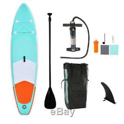 10ft Inflatable SUP Stand Up Paddle Board Paddle Pump & Carry Bag Complete Set