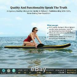 10ft Inflatable Stand Up Paddle Board iSUP with Adjustable Paddle Backpack Pump