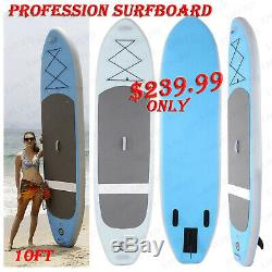 10ft Surfboard Inflatable Stand Up Paddle Board iSUP PVC Surfing Boards US