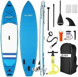 11FT Inflatable Stand Up Paddle Board SUP Surfboard Adjustable Non-Slip Deck US