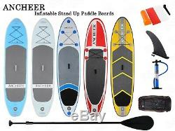 11'/10' Inflatable Stand Up Paddle Board (6 Thick) with SUP Accessories & Bag F