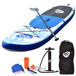 11' Inflatable Stand Up Paddle Board SUP Fin Adjustable Paddle Backpack