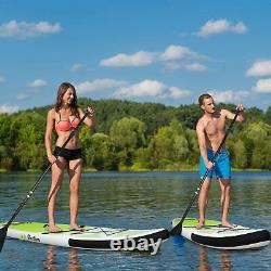 11' Inflatable Stand Up Paddle Board SUP Surfboard with Complete kit Seat Pump
