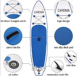 11' Inflatable Stand Up Paddle Board SUP Surfboard with complete kit 6'' thick &