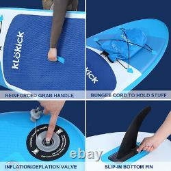 11' Inflatable Stand Up Paddle Board Surfboard SUP Paddelboard with Electric Pump