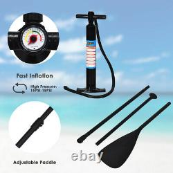 11' Inflatable Stand Up Paddle Board WithCarry Bag Adjustable Paddle Adult
