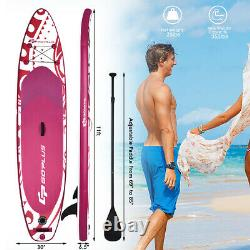 11' Inflatable Stand Up Paddle Board WithCarry Bag Adjustable Paddle Adult Youth