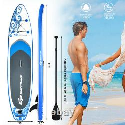 11' Inflatable Stand Up Paddle Board WithCarry Bag Adjustable Paddle Youth Adult